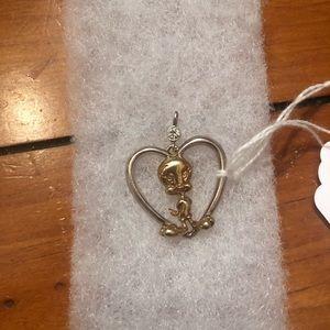 Sterling silver tweety bird pendant